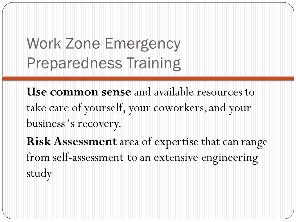 Work Zone Emergency Preparedness Training