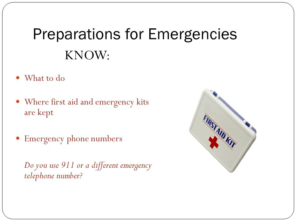 Preparations for Emergencies