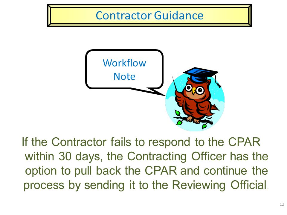Contractor Guidance Workflow Note.