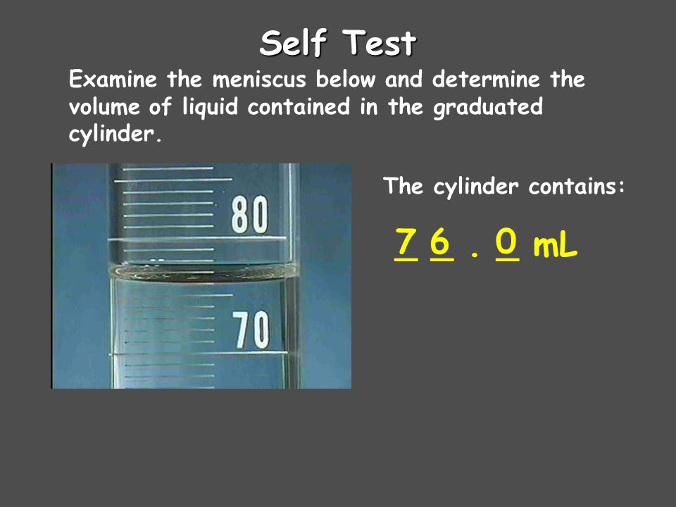 The cylinder contains: