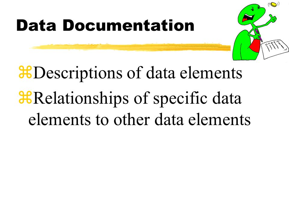 Descriptions of data elements