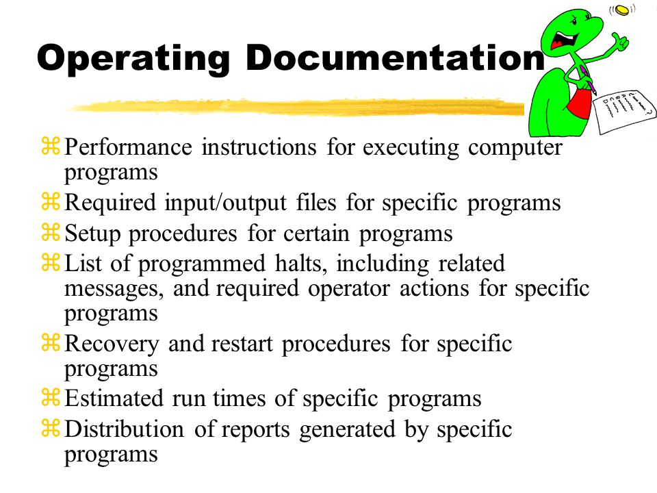 Operating Documentation