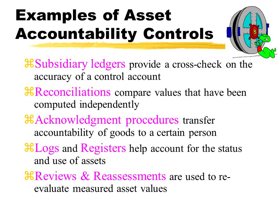 Examples of Asset Accountability Controls