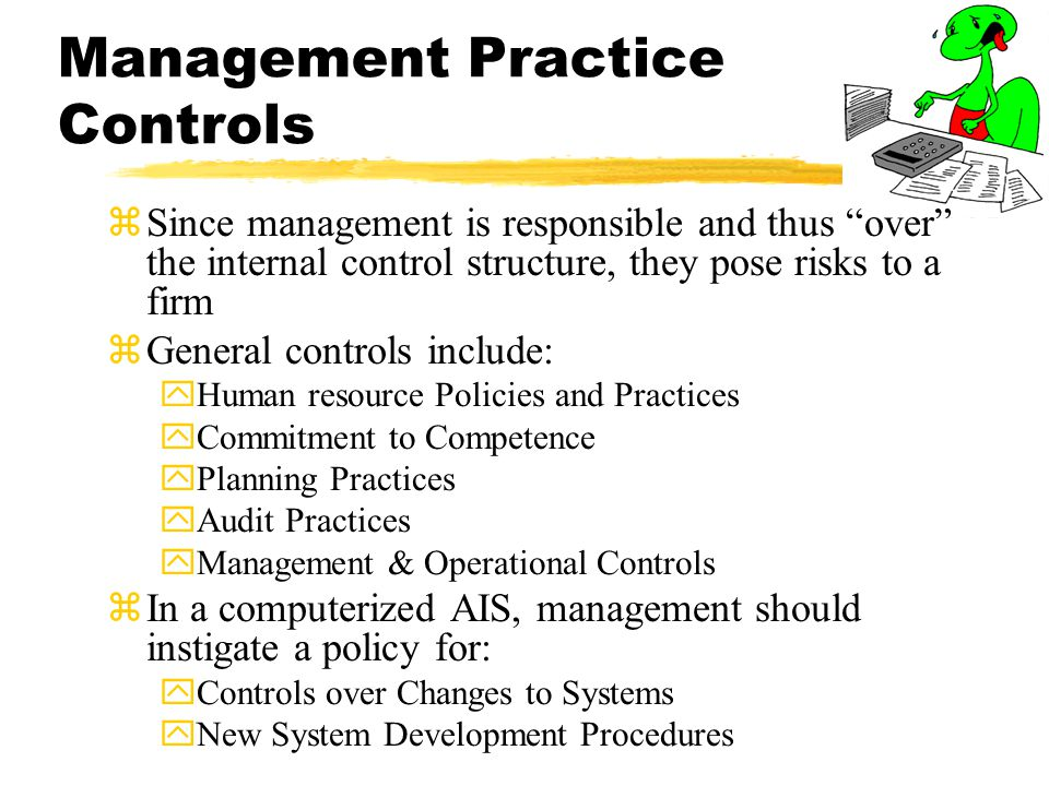 Management Practice Controls