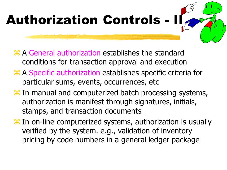 Authorization Controls - II