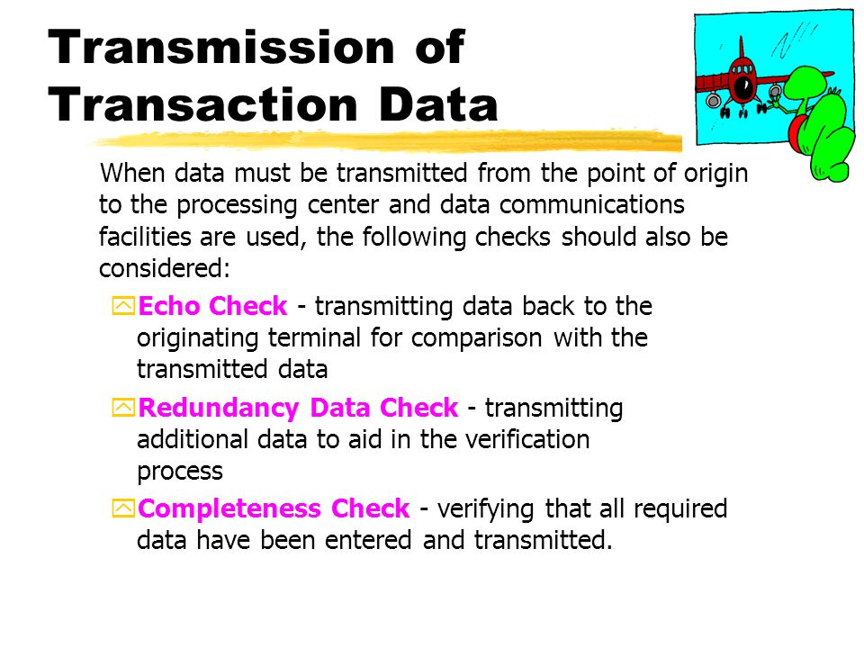 Transmission of Transaction Data