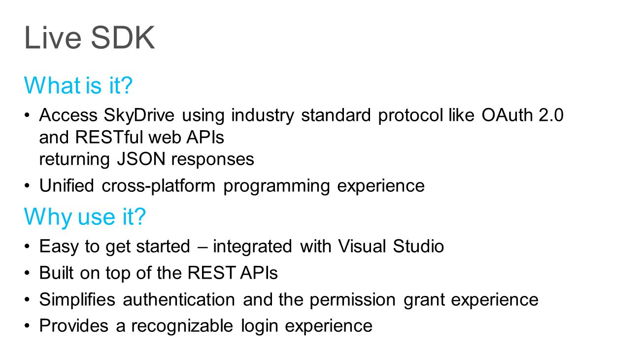 Live SDK What is it Why use it