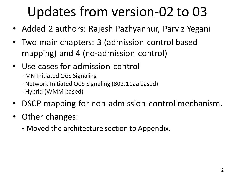 Updates from version-02 to 03