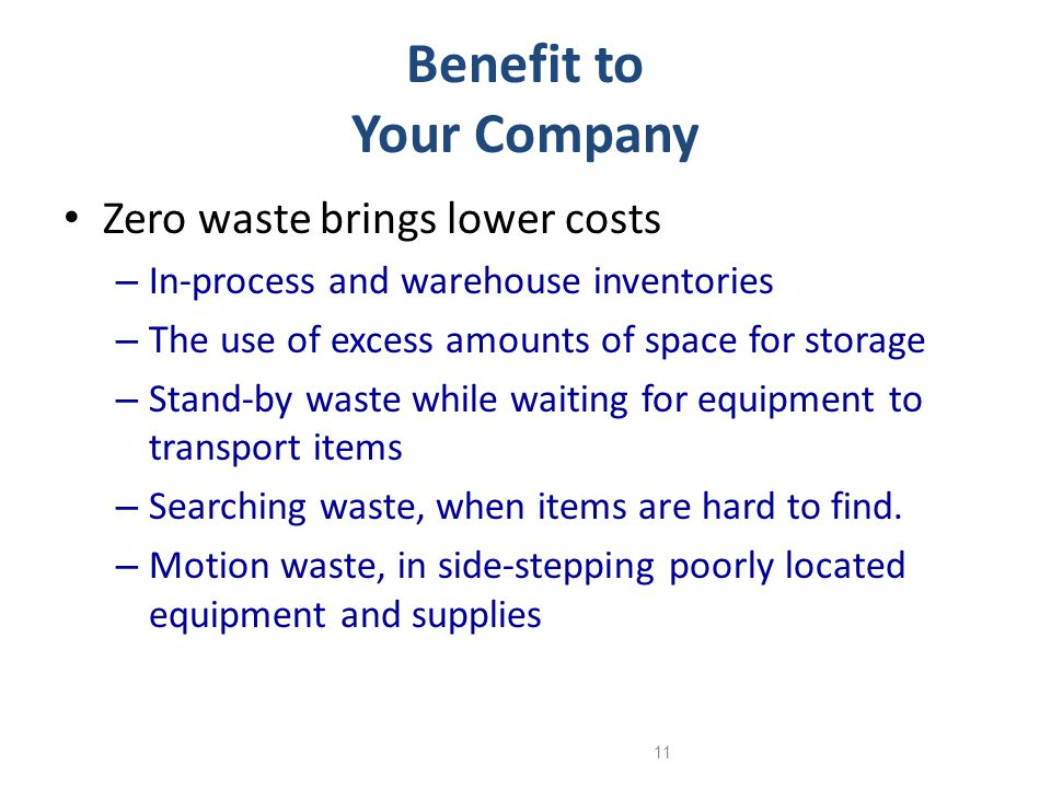 Benefit to Your Company