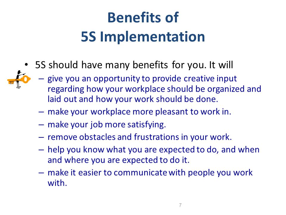Benefits of 5S Implementation