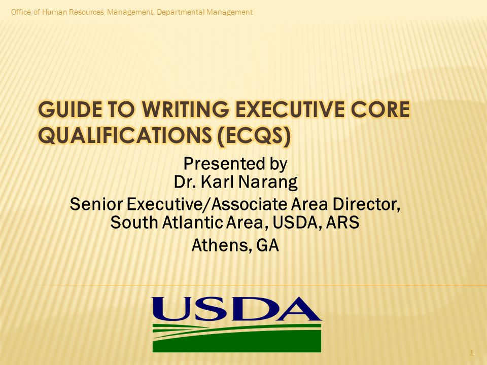 Guide to Writing Executive Core Qualifications (ECQs)