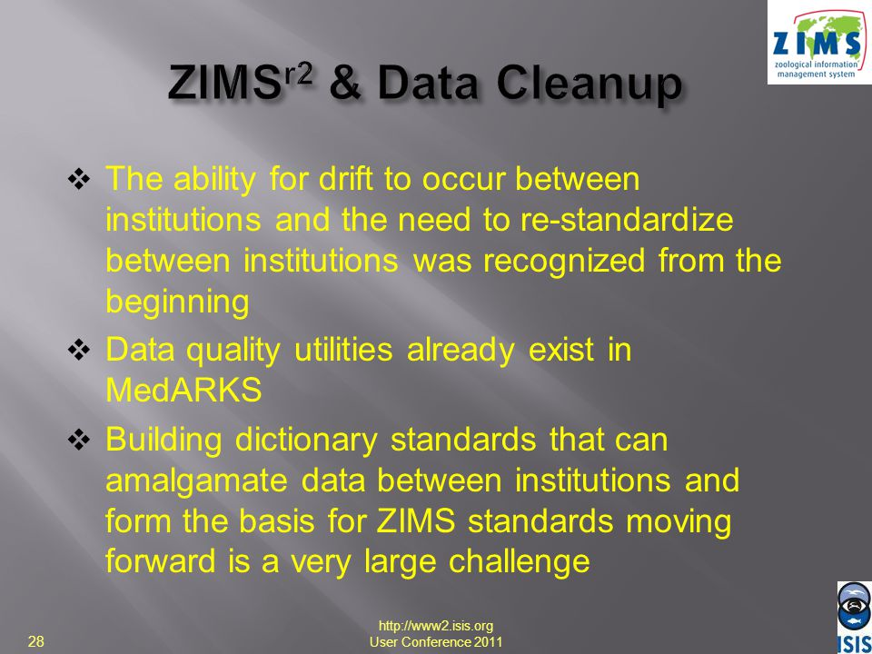 ZIMSr2 & Data Cleanup