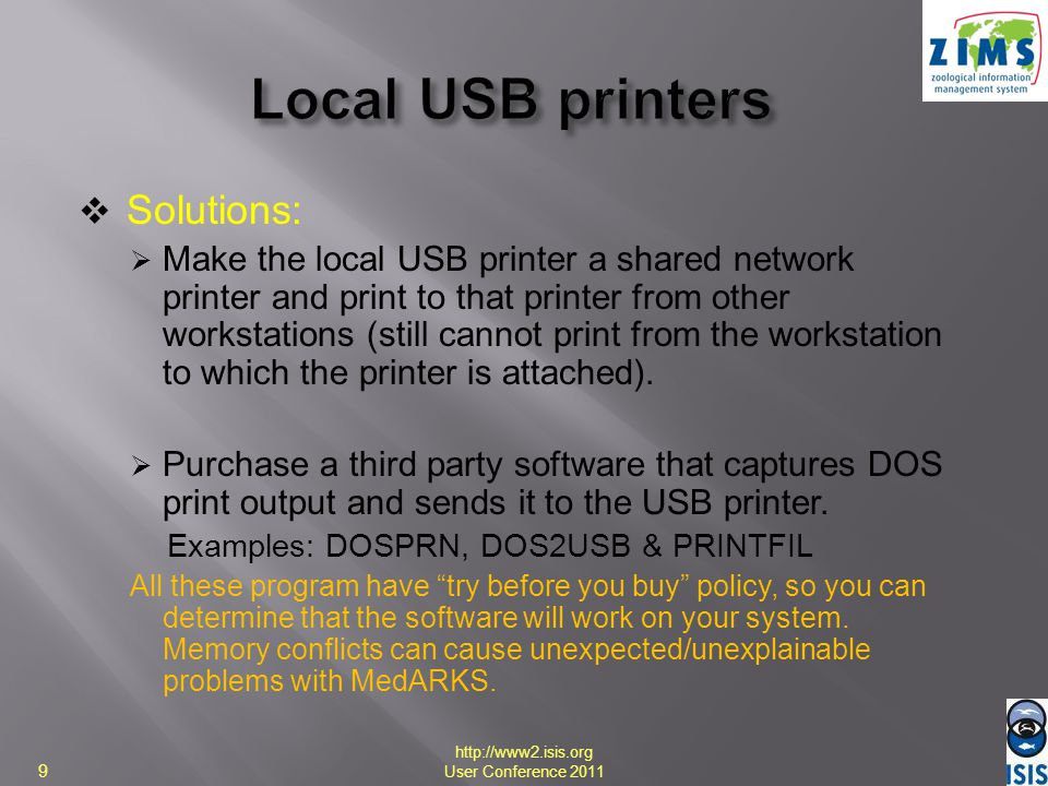 Local USB printers Solutions:
