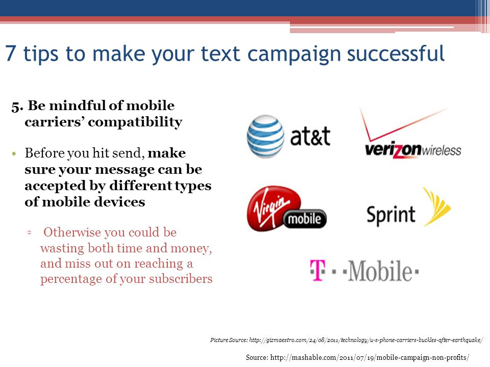 7 tips to make your text campaign successful