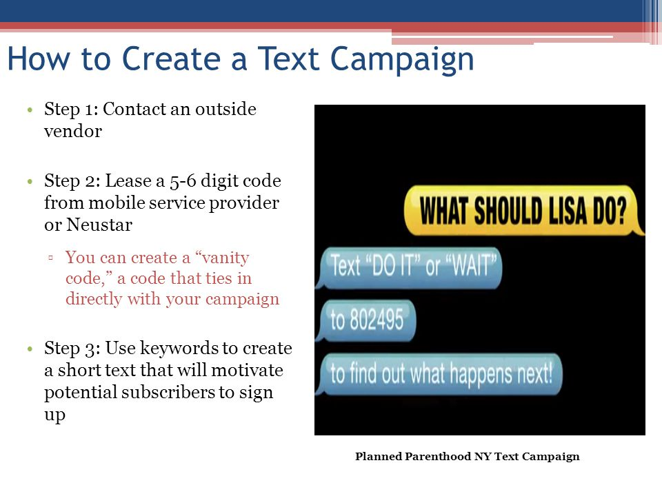 How to Create a Text Campaign