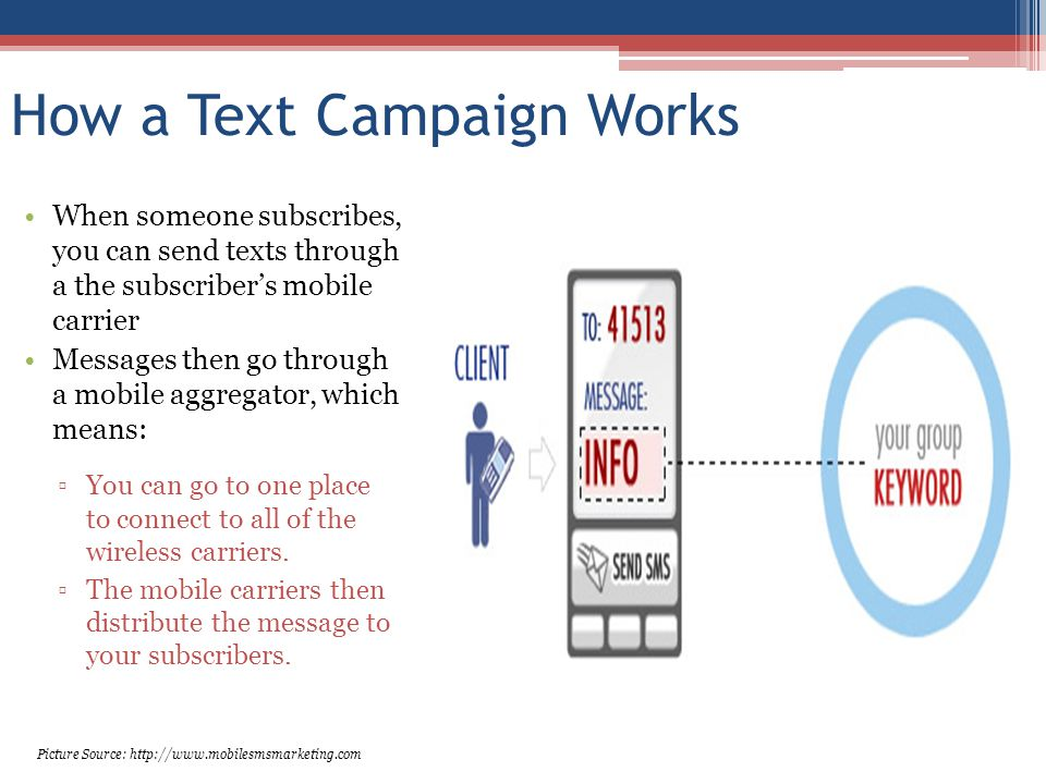 How a Text Campaign Works