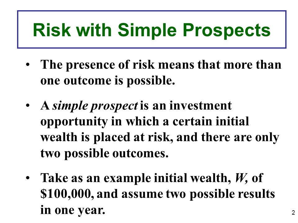 Risk with Simple Prospects