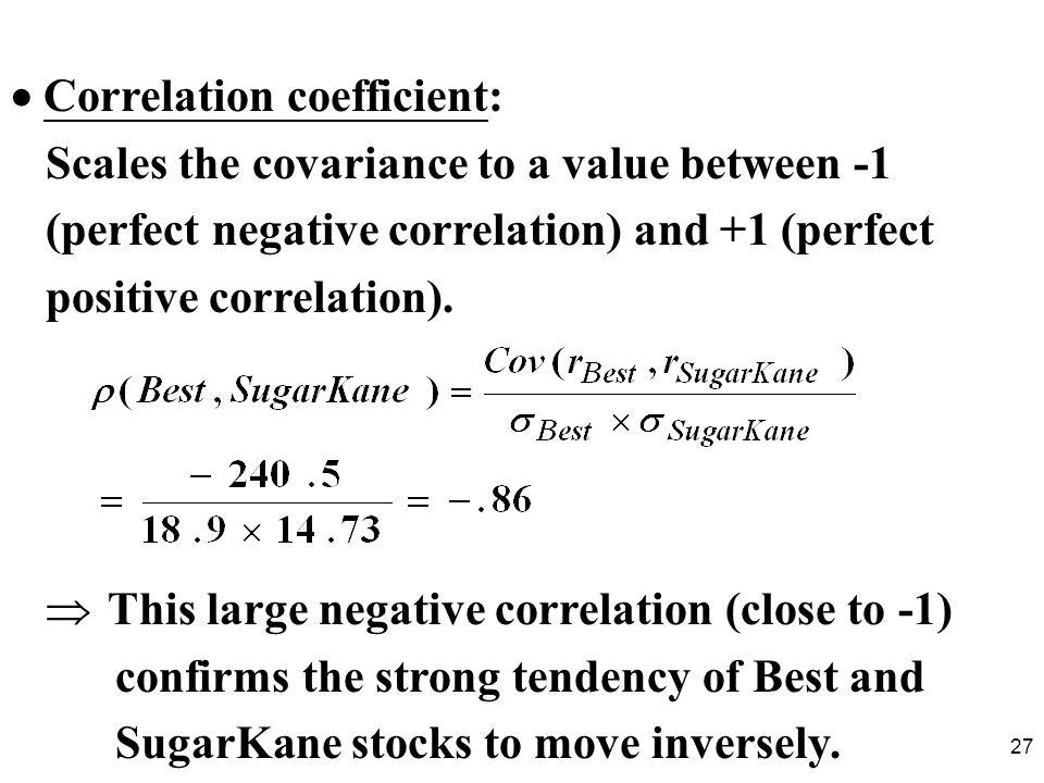  Correlation coefficient: