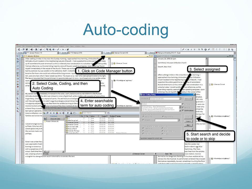 Auto-coding