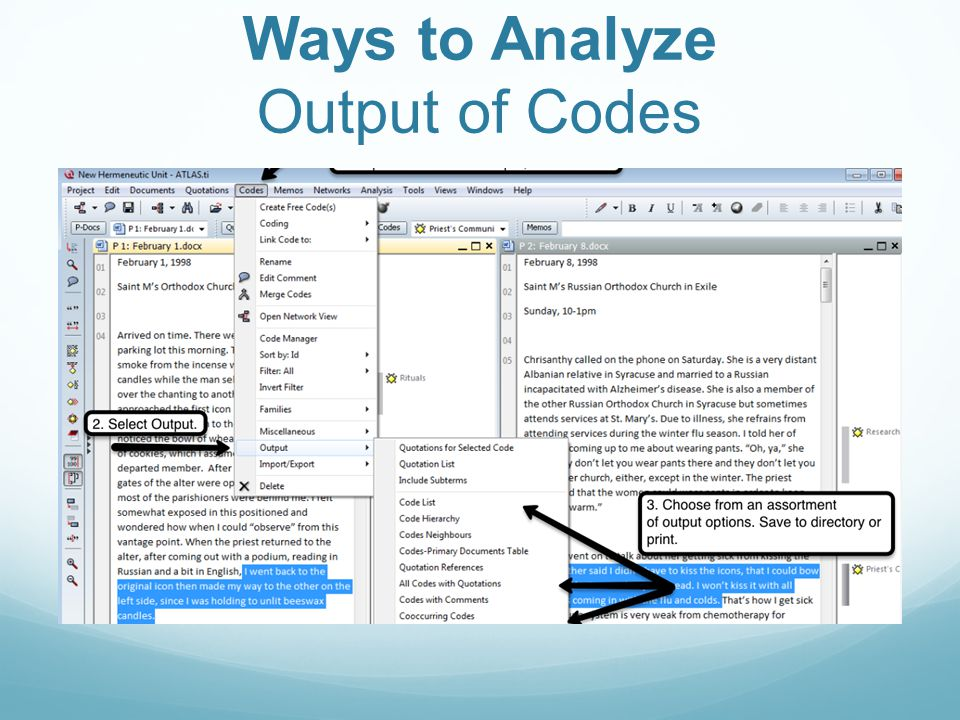 Ways to Analyze Output of Codes