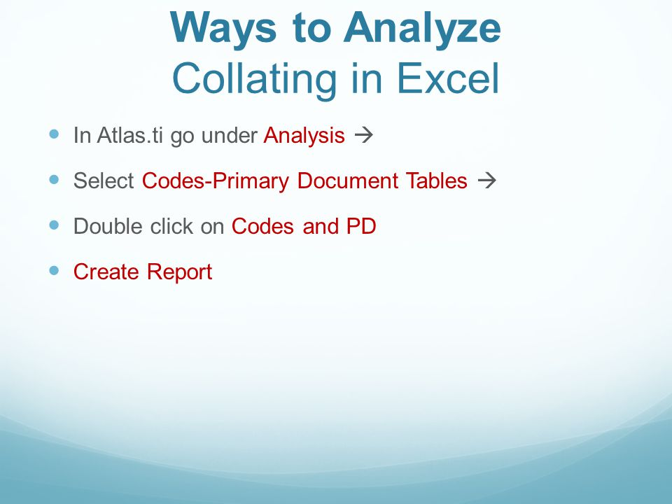 Ways to Analyze Collating in Excel