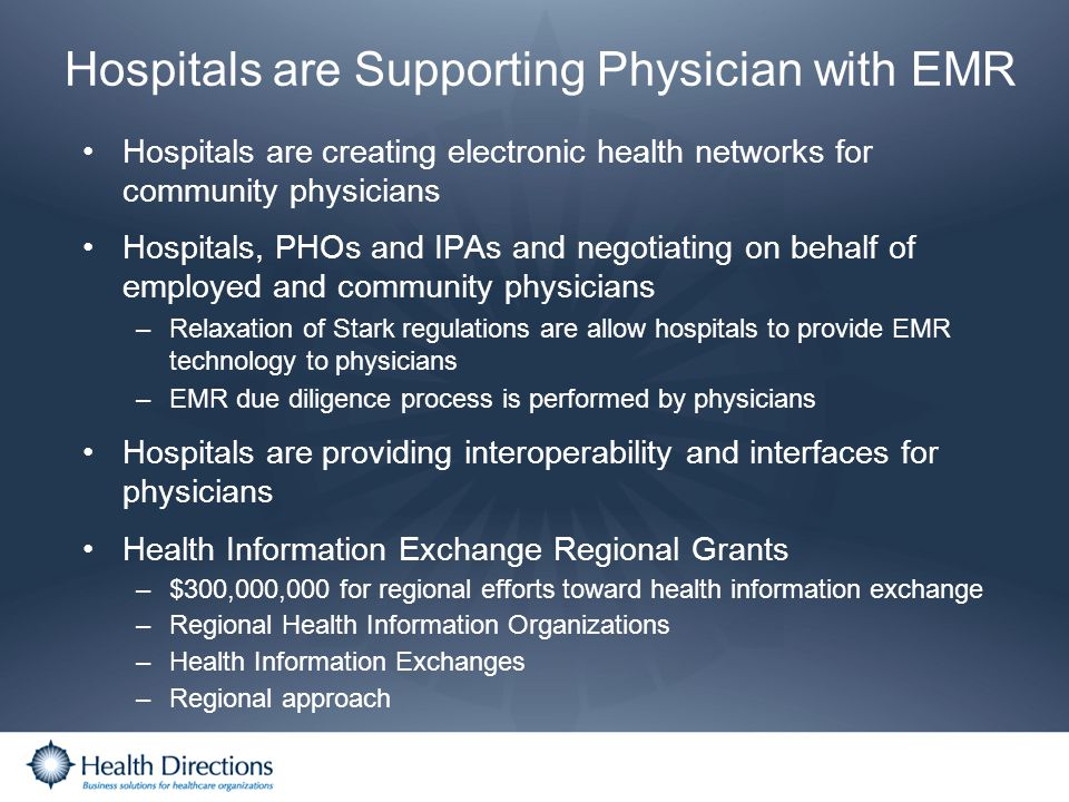Hospitals are Supporting Physician with EMR
