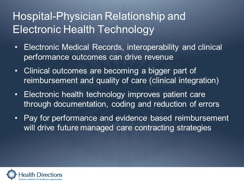 Hospital-Physician Relationship and Electronic Health Technology