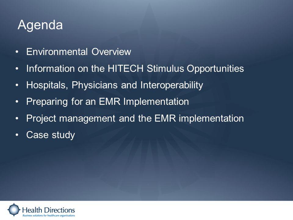 Agenda Environmental Overview
