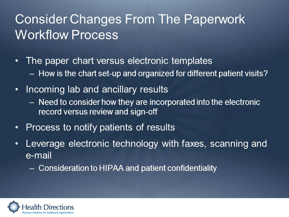 Consider Changes From The Paperwork Workflow Process