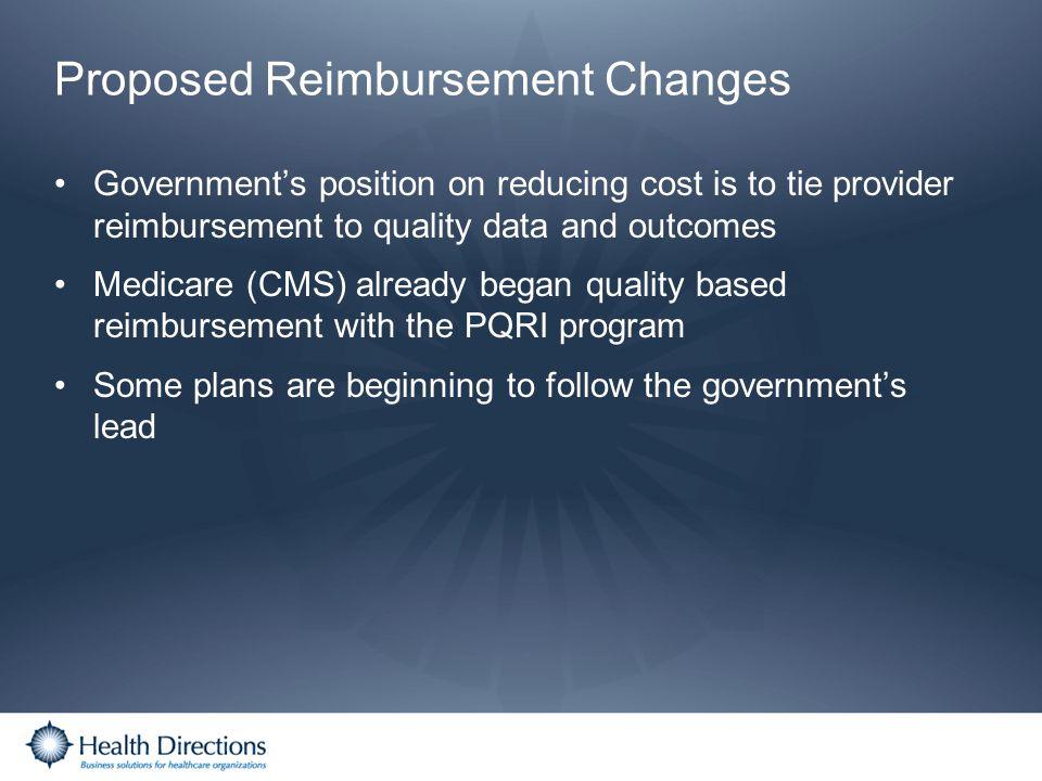 Proposed Reimbursement Changes