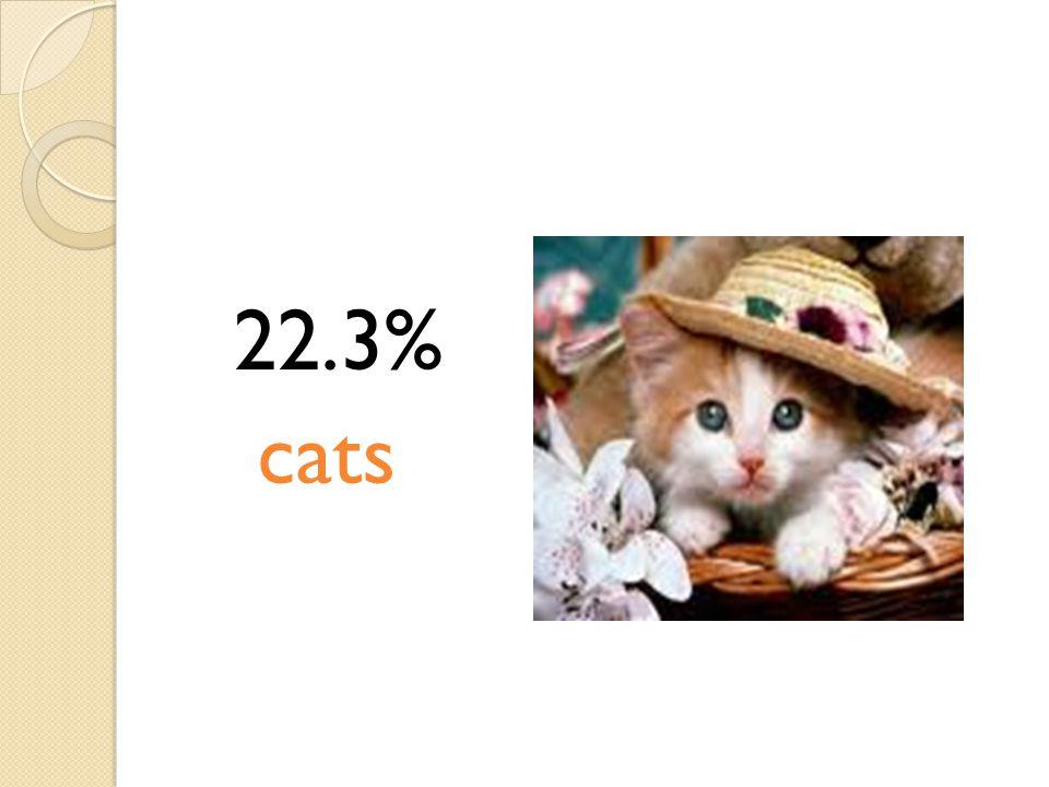 22.3% cats