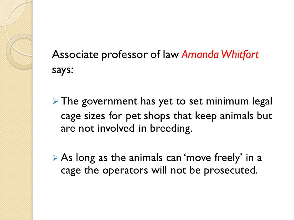 Associate professor of law Amanda Whitfort says: