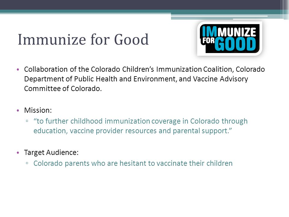Immunize for Good