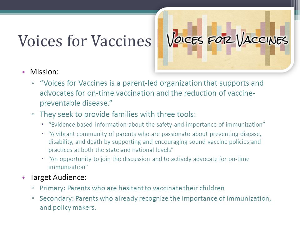 Voices for Vaccines Mission: