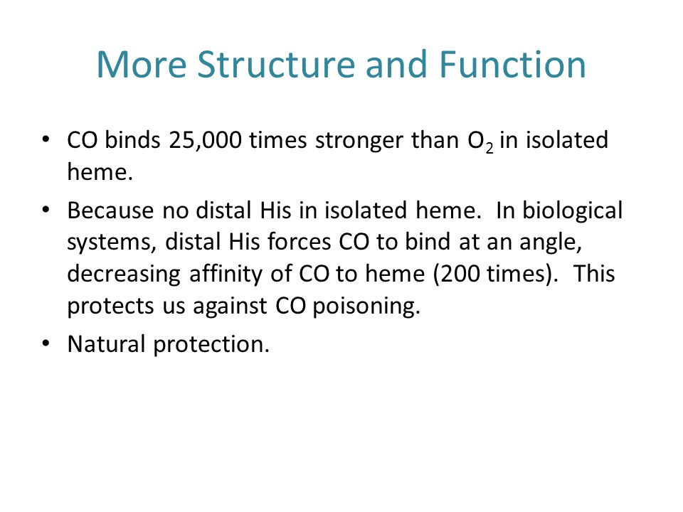 More Structure and Function