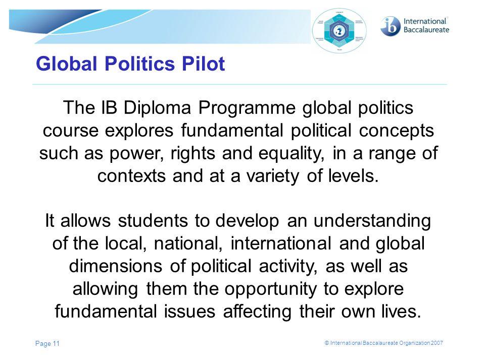 Global Politics Pilot