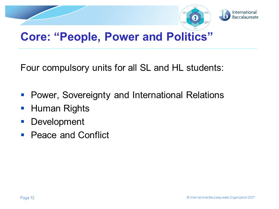 Core: People, Power and Politics
