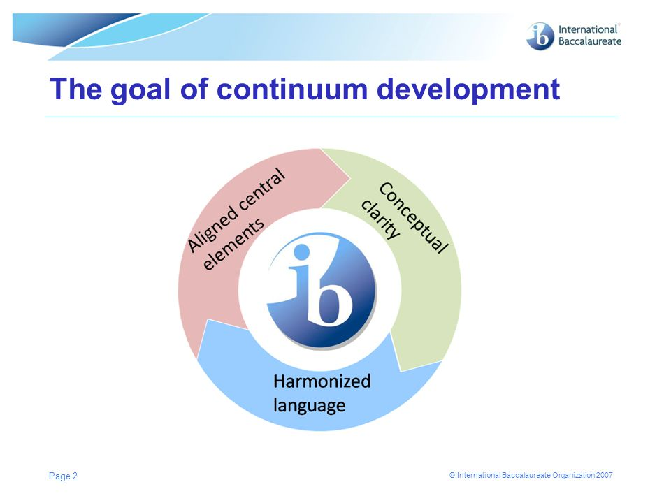 The goal of continuum development