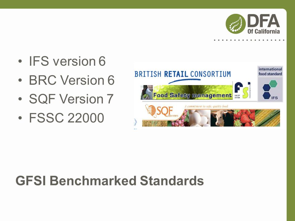 GFSI Benchmarked Standards