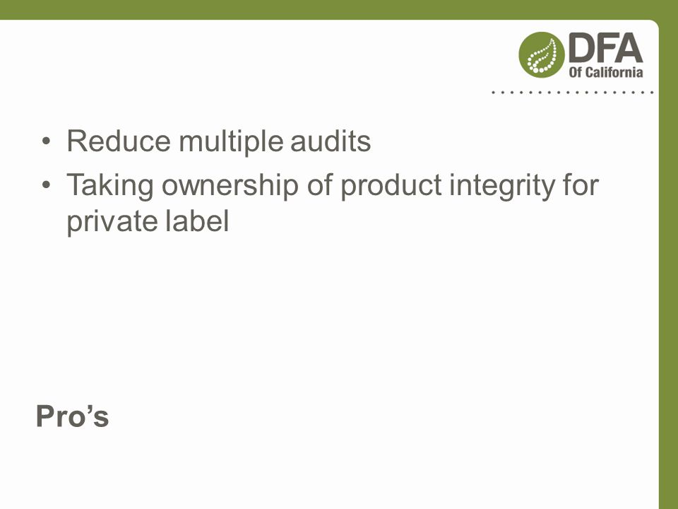 Reduce multiple audits