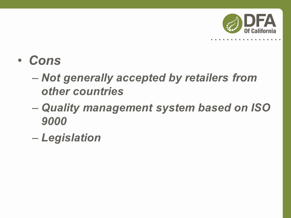 Cons Not generally accepted by retailers from other countries
