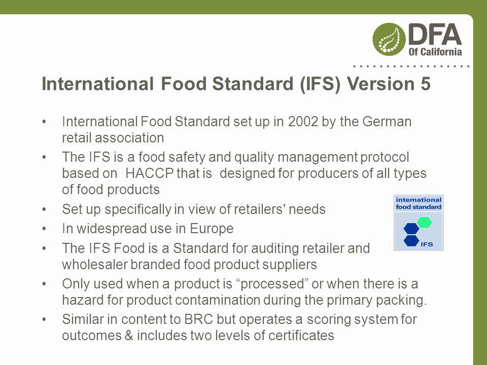 International Food Standard (IFS) Version 5