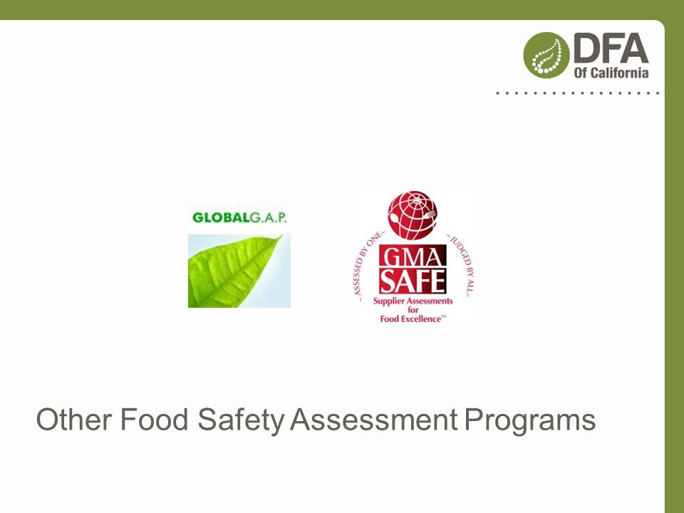 Other Food Safety Assessment Programs