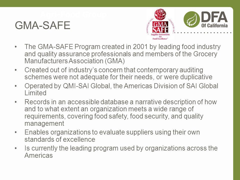 GMA-SAFE Agri-Food Group
