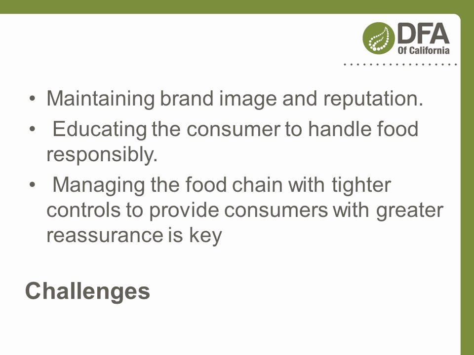 Challenges Maintaining brand image and reputation.
