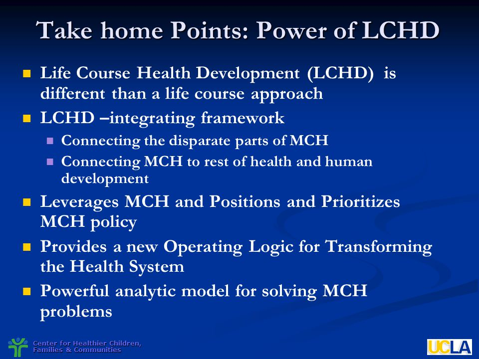 Take home Points: Power of LCHD