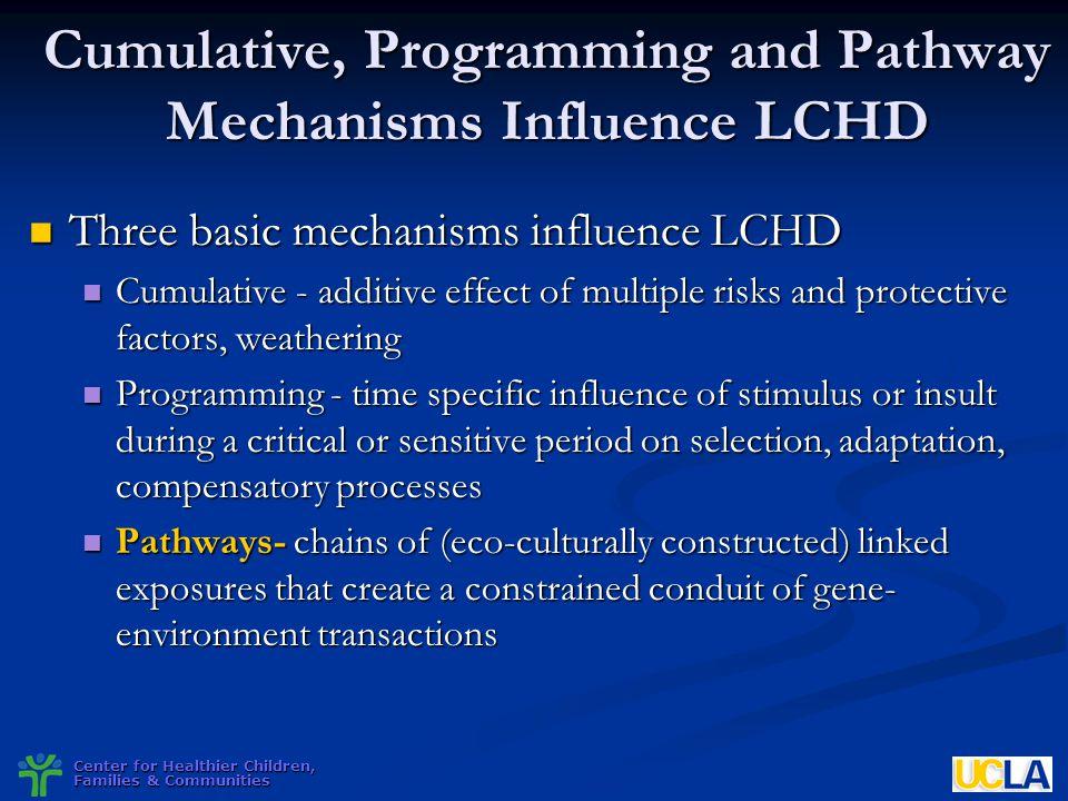 Cumulative, Programming and Pathway Mechanisms Influence LCHD