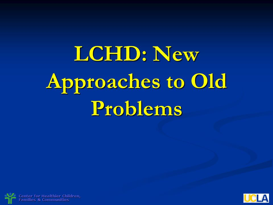 LCHD: New Approaches to Old Problems
