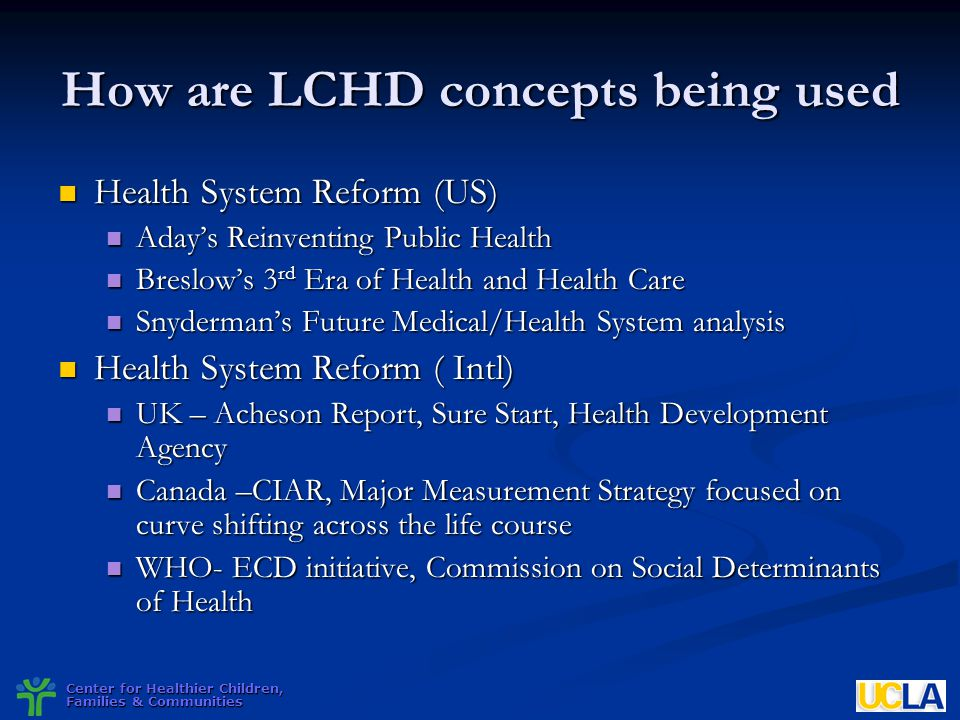How are LCHD concepts being used