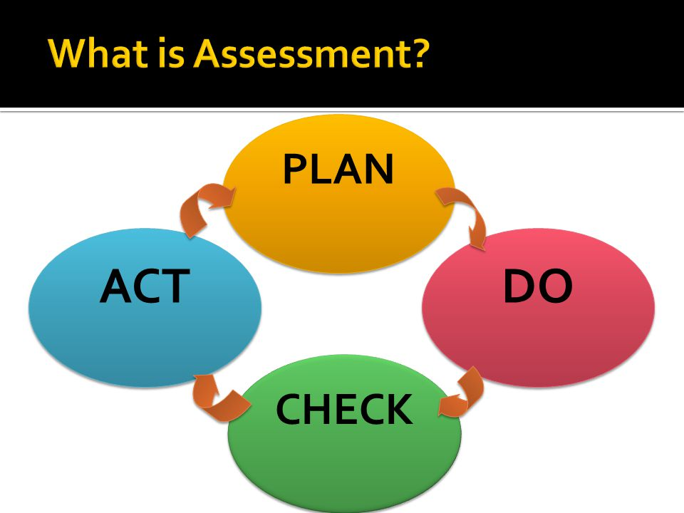 What is Assessment PLAN ACT DO CHECK